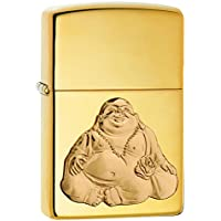 Zippo Unisex Buddha Windproof Lighter, High Polish Brass, One Size