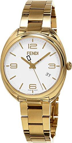 Fendi Women's Momento 34mm Gold-Tone Steel Bracelet & Case Swiss Quartz White Dial Analog Watch F211434000