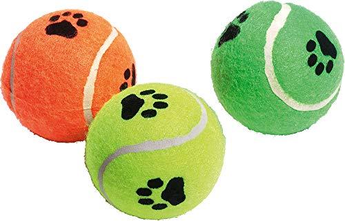 Karlie Tennisball mit Squeaker Farblich Sortiert, 3-er - Tennisbälle Hund