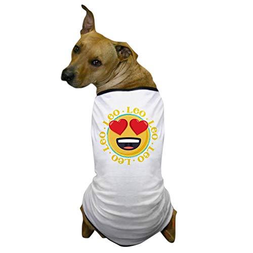 CafePress Emoji Leo Horoskop Hunde-T-Shirt, Medium, weiß