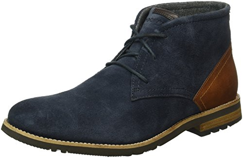 Rockport Herren Ledge Hill Too Laceup Chukka Boots Blau (NEW DRESS BLUES)