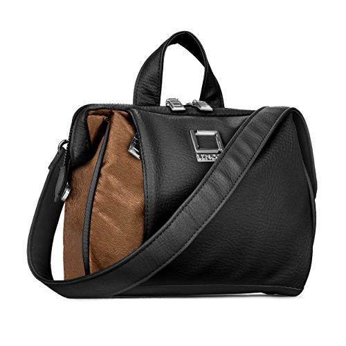 lencca-mujer-hombro-viaje-oliva-series-asa-superior-bolso-de-mano-negro