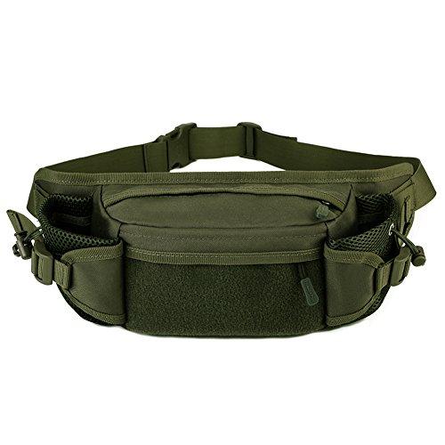 Huntvp Tactical Hüfttasche Bumbag Militär Taille Gürteltasche Hüftgürtel für Wandern Laufen Militär Grün