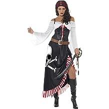 NET TOYS Costume donna pirata piratessa corsaro mercenario Carnevale 11227ce6a359
