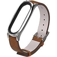 Modaworld _Correa de reloj Pulsera Xiaomi Mi Band 3 Pulsera de Repuesto Banda de reemplazo Correas Hebilla de Metal para XiaoMi Mi Band 3 Reloj Inteligente (marrón)