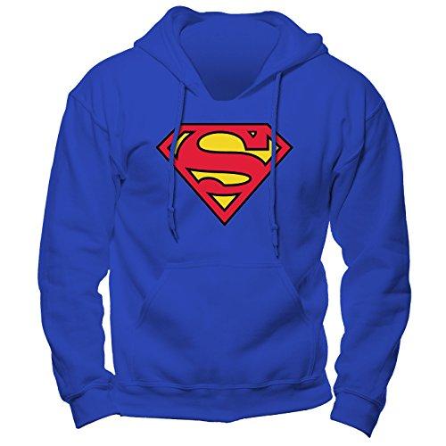 Superman Logo Hoodie Kapzensweat Offizielles Lizenzprodukt|XL -
