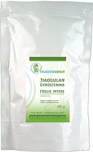 Jiaogulan foglie intere (100g) [Gynostemma pentaphyllum, xiancao] originale Tausendkraut