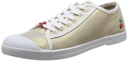 Le Temps des Cerises Basic 02 Fancy, Baskets mode femme Or (Gold)