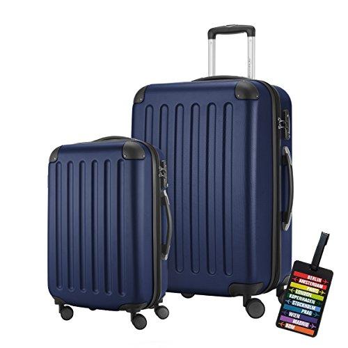 HAUPTSTADTKOFFER · 2er Hartschalen Kofferset · Modell: SPREE · Handgepäck 49 Liter + Reisekoffer 82 Liter · in verschiedenen Farben + DESIGN...