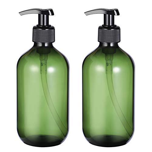 OUNONA 2PCS Leere Shampoo Flaschen Seifenspender Lotion Pumpflaschen Container 500 ml (grün) -