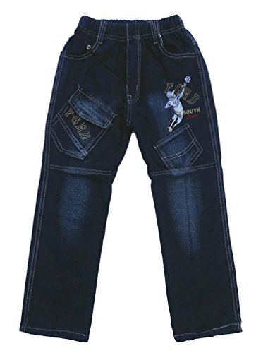 Bequeme Jungen Jeans mit rundum Gummizug, Gr. 104, J272.4e