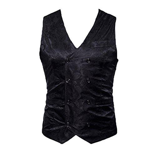 Hibote Uomo Outwear Coat monopetto uomini Gilet Herren Blazer Vest Fashion Casual Suit Vest lavoro