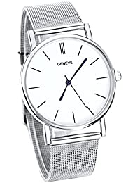 Slim Thin Silver Smart Watch Clear Dial Present Gift Birthday Xmas UK Seller