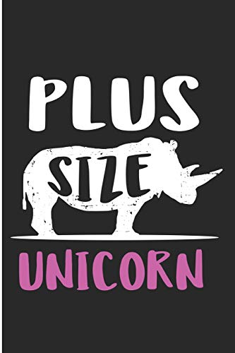 Plus Size Unicorn: Cute Chubby Unicorn Blank Lined Note Book