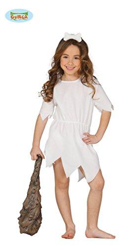 Guirca Steinzeit Kostüm für Mädchen Gr. 98-146, -