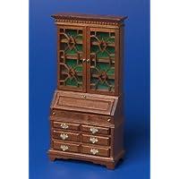 12th Scale Dolls House Furniture - Georgian Bureau - Walnut