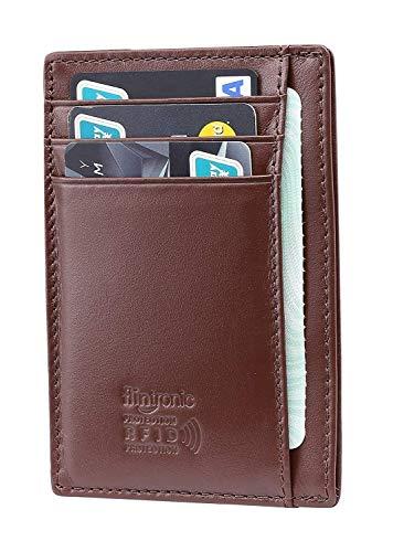 flintronic Billetera, Tarjetas de Crédito Slim Moda RFID Bloqueo Monedero de Cuero, Mini Billetera para Cartera ID,Tarjetero Crédito Licencia de Conducir Cartera Hombre