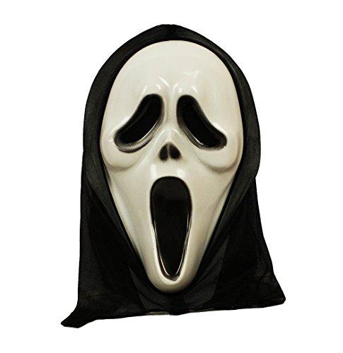 HAAC Maske Geist Geistermaske für Halloween Fasching Karneval 35 cm x 20 - Scream Halloween