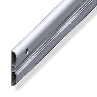 Gedotec Befestigungsschiene Zubehör Systemschiene für Fahrradhalter Wandprofil für Skihalter | Aluminium blank | Länge 1000 mm | 1 Stück