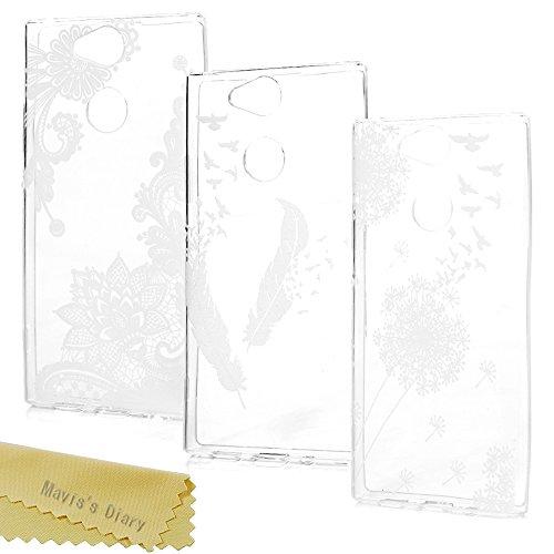 Sony Xperia XA2 Hülle Case Mavis's Diary Malen Handyhülle Transparent Tasche Silikon TPU Back Cover Handytasche Soft Skin Schale Durchsichtige Schutzhülle Kratzfest Stoßdämpfend Bumper*3-Set2