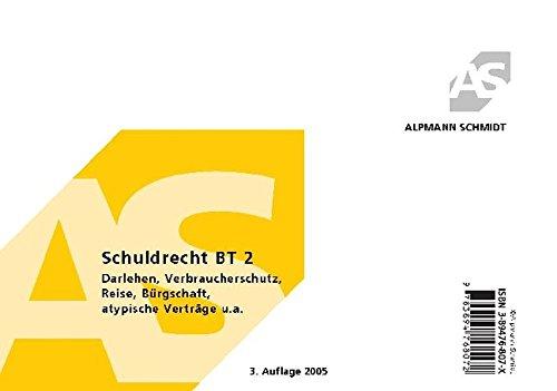 Alpmann-Cards, Karteikarten: Schuldrecht BT 2