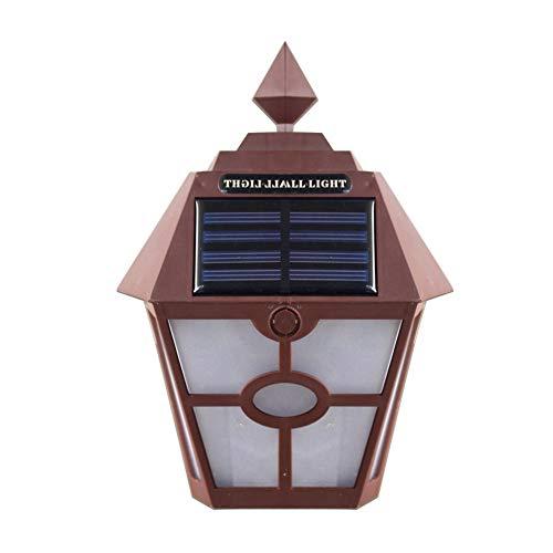 Control De Luz Al Aire Libre Luz Del Paisaje Luz De 2LED Perla Impermeable Anticongelante Resistente Al Calor Valla Solar Luz De Pared Hexagonal Luz De Pared De Jardín Exterior (paquete De 2)