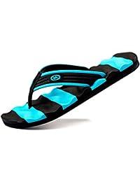 Herren Flip Flops Sommer Lässig Flachen Sandalen Schuhe für Männer  Gestreifte Flip Flops Strand Sandalen Schuhe 9c3adc6d41