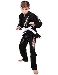 Tatami Meerkatsu Infantil Jiu Jitsu Animal Gi - Negro - 110cm