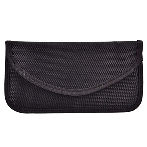7 Zoll Universal Signal Blocker Tasche,Keyless Go Schutz Auto Schlüssel Blockiert Abschirmung Tasche Strahlenschutz Tasche für Handy Kreditkarten Fob Signal Guard Blocker Tasche (Schwarz) -