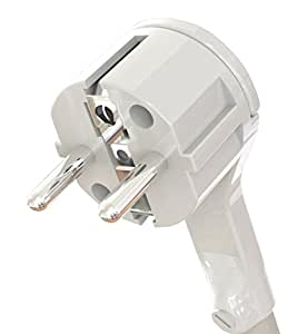 Zenitech - Fiche mâle 2P+T 16A extra plate Blanc