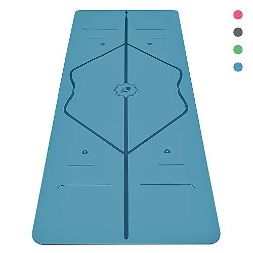 Liforme Yogamatte - Die Weltweit Beste Umweltfreundliche, Rutschfeste Yogamatte Mit Dem Originalen Einzigartigen Ausrichtungsmarkierungssystem - Biologisch Abbaubare Matte Aus Naturkautschuk Mit Griff -