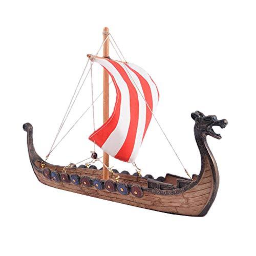 Maquetas de Barcos Vikingos, Cabeza de Dragón Tallada Realista Artesanía Decoración para Habitación, Hogar, Oficina, Tienda - A- 25.5x5.5x17.5cm