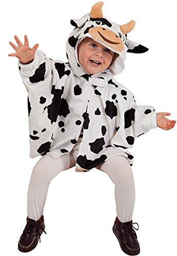 Kleinkind Kostüm Kuh - Orlob NEU Kleinkind-Cape Kuh, mit Ärmeln, Einheitsgröße
