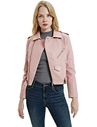 cheap for discount 364f6 40a10 Amazon.it: In Pelle Biker - Rosa / Giacche e cappotti ...