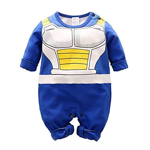Dragon Ball Z Design Baby Jungen Mädchen Strampler Cosplay Kostüm Goku-inspiriert Säugling Outfit Overall Kleidung, A Lange Ärmel, 90 CM / 12-24 Monate