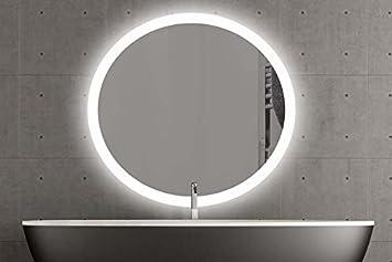 London runder Spiegel mit LED Beleuchtung Badspiegel Zimmer ... | {Spiegel mit beleuchtung rund 2}