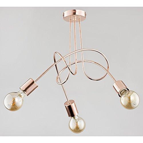 Moderne lampe de plafond 3 x 60 W/E27 Tango Copper 24323 Alfa
