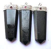 Schönes Set von drei schwarz Turmalin Granat Anhänger Crystal Healing Fashion Wicca Jewelry Herren Frauen Geschenk... preisvergleich bei billige-tabletten.eu