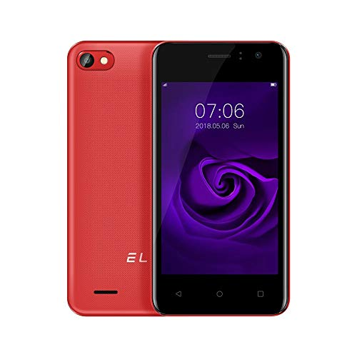 Fulltime E-Gadget Smartphone 3G 4,0 Zoll Android 6.0 512 MB RAM + 4 GB ROM Vierfach-Kern-Doppel-SIM entriegeltes Telefon (Rot)