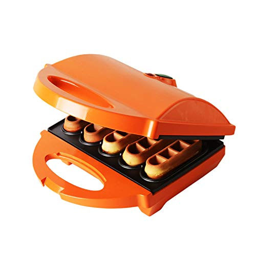 Xcxdx mini macchina per waffle stick per cuocere, arancione