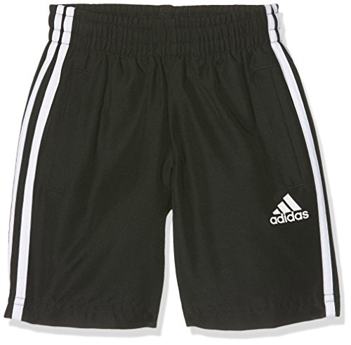 adidas Jungen 3-Stripes Woven Shorts, Black, 158