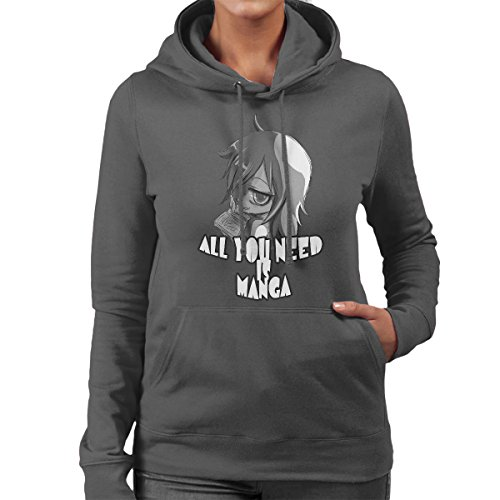All You Need Is Manga Women's Hooded Sweatshirt Anthracite