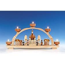 Mire al trasluz el arco + el arco ligero con la luz del té, arco ligero Seiffen de la vela del té de Mujeres Iglesia 47 cm NUEVO