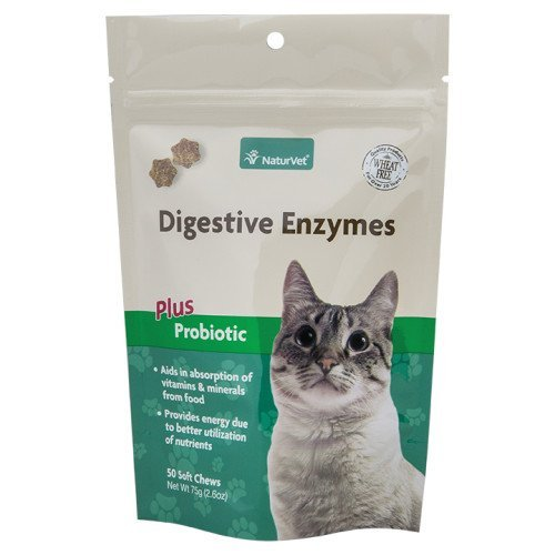 NaturVet 50Count Digestivo Enzimas Plus Probiotics 2en 1Suave Masticar