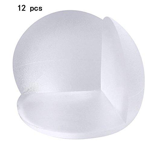 Gosear® 12 Pcs Transparent Sphérique Forme Meubles Coin Protection Pare-Chocs Coin Garde Coussin Home Table Bureau Edge Angle