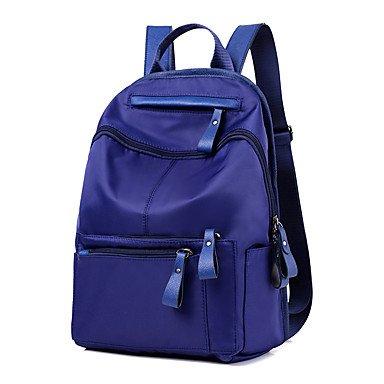 Frauen Rucksack Nylon Oxford Tuch alle Jahreszeiten Sport Outdoor Shopping Schaufel Reißverschluss Blau Schwarz Amethyst Blue