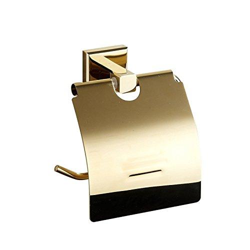 SUN-L'oro in ottone massiccio supporto di carta igienica durevole carta