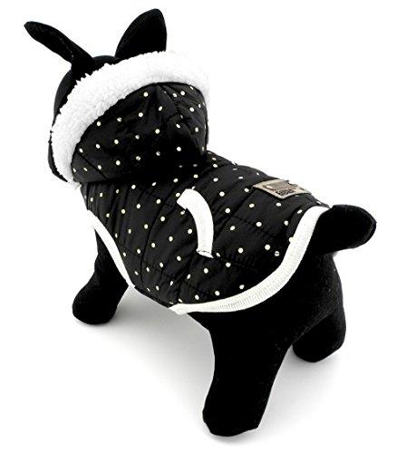 ranphy klein für Hunde/Katzen, Fleece Gefütterte Winter Weste Coat Jacke Kapuzen Jacke Hooded Kostüm Kleidung (Girl Kostüme Working)