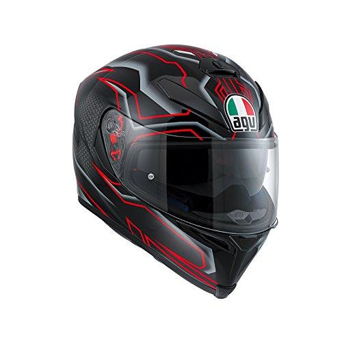 AGV Casco Moto K-5S E2205Multi plk, Deep Black/Blanco/Rojo, ML