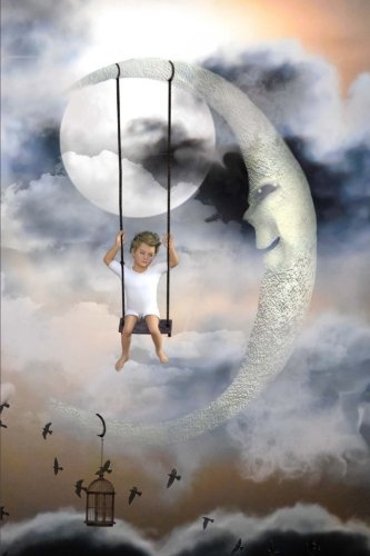young-child-swinging-on-the-moon-fantasy-illustration-journal-150-page-lined-notebook-diary